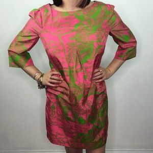 LILLY PULITZER queen of hearts silk shift dress